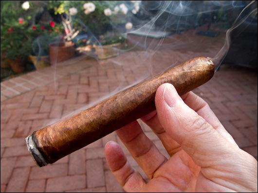 Smoking the Fuente Opux X robusto cigar