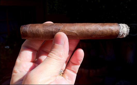 Perfect cigar burn.