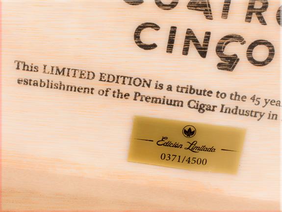 Cuatro Cinco cigars.