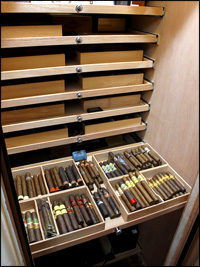 Happy cigars in their new home.