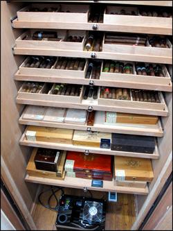 Closet full of cigars