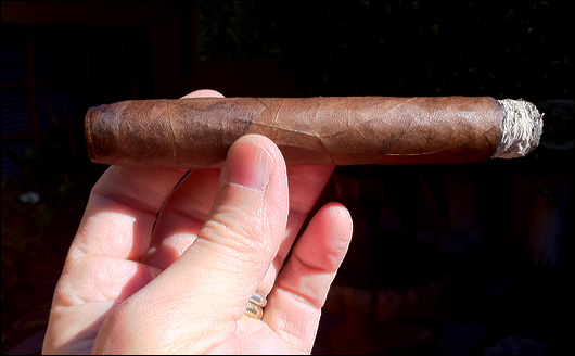 Perfect cigar burn.