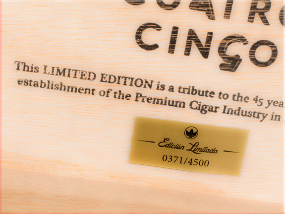 Cuatro Cinco cigars.
